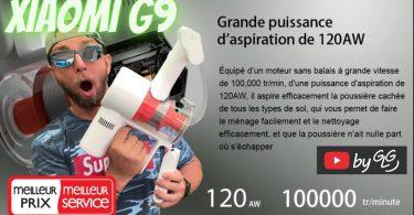 xiaomi g9 aspirateur balais 120w cyclone sans sac, la meilleur offre