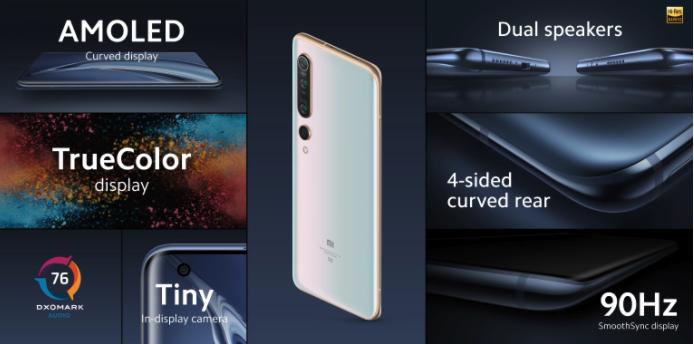 Xiaomi Mi 10 Ecran