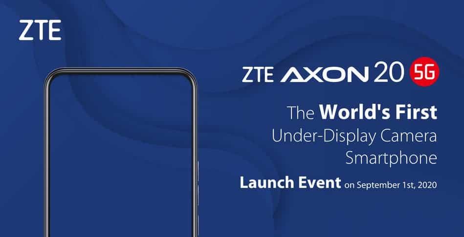 Zte Axon 20 Camera In Display