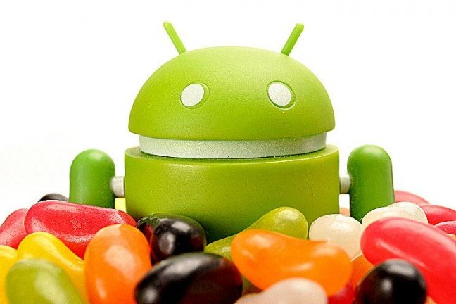 robot android jelly bean heureux