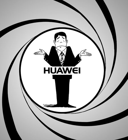 illustration d'espionnage par huawei