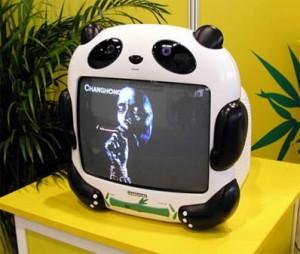 téléviseur en forme de panda