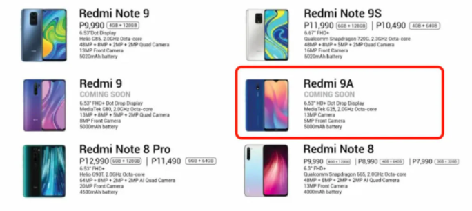 Redmi 9a Leak
