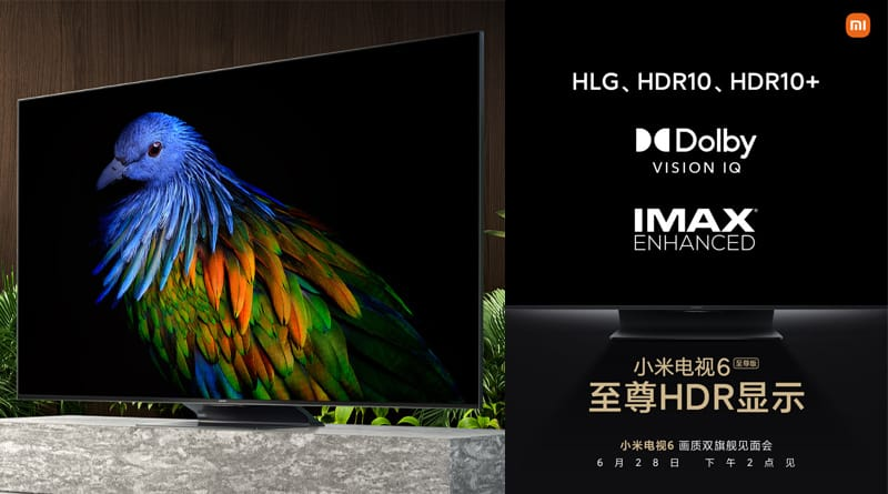 xiaomi mi tv6 extreme edition teased 100 backlight partitions and dolby vision